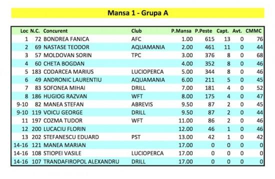 Mansa 1 - Grupa A. Cupa Valea Argovei 2, Divizia Open