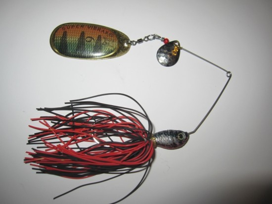 Spinnerbait modificat in functie de toanele de moment ale stiucilor