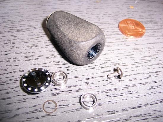 MGX - Knoburile de EVA sunt prevazute cu cate 2 rulmenti fiecare
