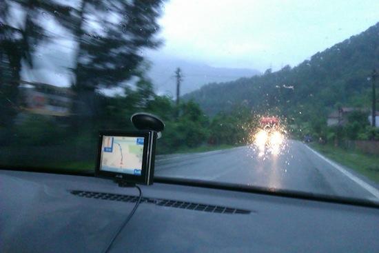 De pe drum... din ce in ce mai intunecata vremea