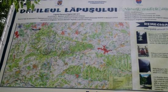 Harta Defileului Lapusului